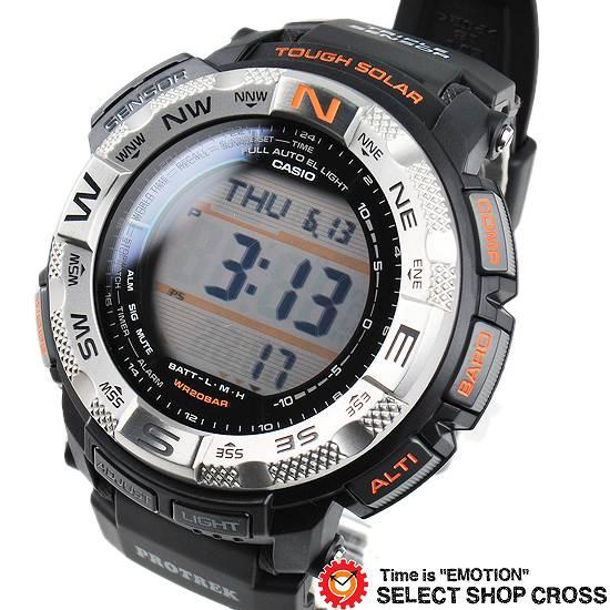 【名入れ対応】 【100%本物保証】 【3年保証】 CASIO カシオ PRO TREK プロトレック メンズ 腕時計 ソーラー PRG-260-1DR ブラック 黒 海外モデル 】