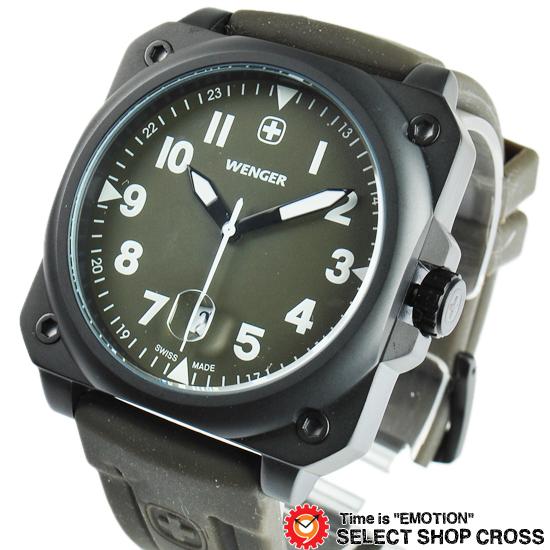 ウェンガー WENGER 腕時計 アナログ メンズ Aerograp エアログラフ 72422 カーキ