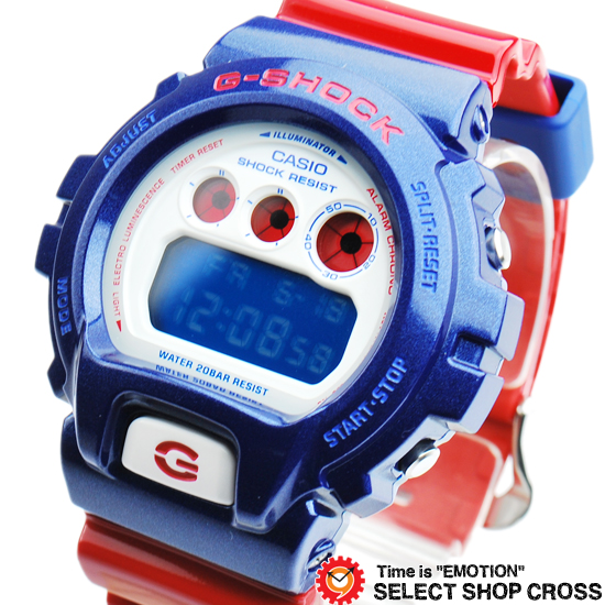 【名入れ対応】 【3年保証】 G-SHOCK CASIO カシオ Gショック 防水 ジーショック メンズ 腕時計 デジタル Blue and Red Series DW-6900AC-2DR ブルー/ホワイト 白 /レッド