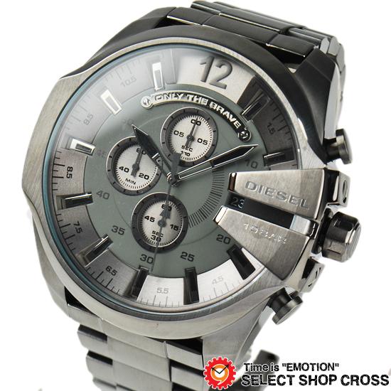 DIESEL ディーゼル メンズ 腕時計 メガチーフクロノグラフ ステンレス DZ4282 ガンメタル 【男性用腕時計 時計 リストウォッチ ランキング ブランド 防水 カラフル】