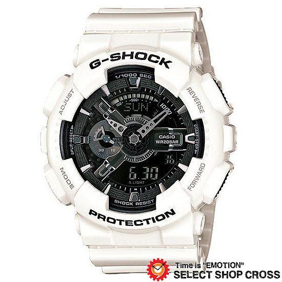 【名入れ対応】 【3年保証】 カシオ CASIO Gショック 防水 ジーショック G-SHOCK White and Black Series ホワイト 白 &ブラック 黒 メンズ 腕時計 GA-110GW-7AJF 国内モデル