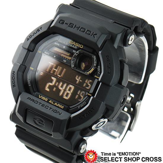 【名入れ対応】 【3年保証】 CASIO カシオ Gショック G-SHOCK メンズ デジタル 腕時計 バイブレーション GD-350-1B ブラック 黒 海外モデル [国内 GD-350-1BJF と同型]