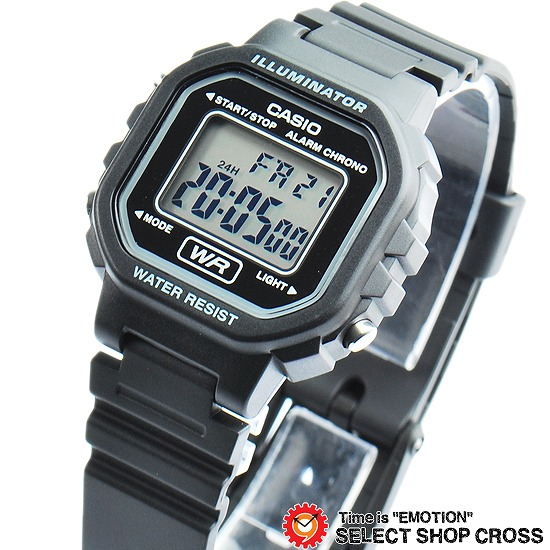 Lady's Out 20wh Sea Standard La 1a Model Digital Casio The Watch Black Of WH9IE2eDY