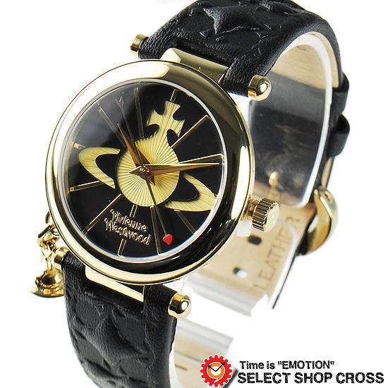 ヴィヴィアン・ウエストウッド Vivienne Westwood レディース チャーム付き アナログ 腕時計 ブランド VV006BKGD ゴールド/ブラック 黒