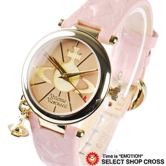 ヴィヴィアン・ウエストウッド Vivienne Westwood レディース チャーム付き アナログ 腕時計 ブランド VV006PKPK ピンク/ゴールド