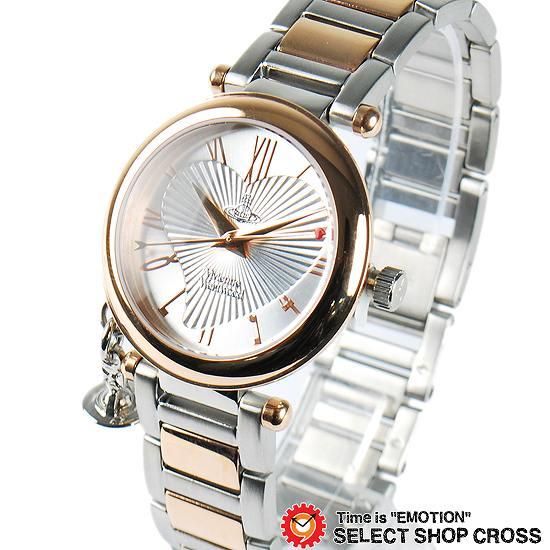 ヴィヴィアン・ウエストウッド Vivienne Westwood レディース アナログ 腕時計 ブランド VV006RSSL ピンクゴールド/シルバー