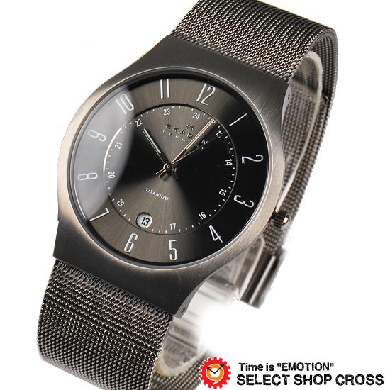 【3年保証】 スカーゲン メンズ レディース ユニセックス 腕時計 SKAGEN 時計 スカーゲン 時計 SKAGEN 腕時計 人気 クォーツ チタン アナログ 233XLTTM グレー スカーゲン レディース