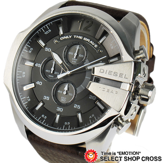 DIESEL ディーゼル メンズ 腕時計 メガチーフクロノグラフ ステンレス DZ4290 グレー/シルバー 【男性用腕時計 時計 リストウォッチ ランキング ブランド 防水 カラフル】