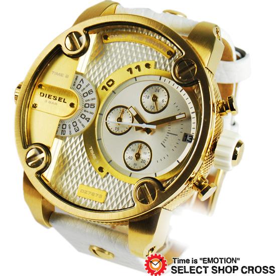 DIESEL ディーゼル メンズ 腕時計 Little Daddy クロノグラフ ステンレス DZ7273 シルバー/ゴールド 【男性用腕時計 時計 リストウォッチ ランキング ブランド 防水 カラフル】