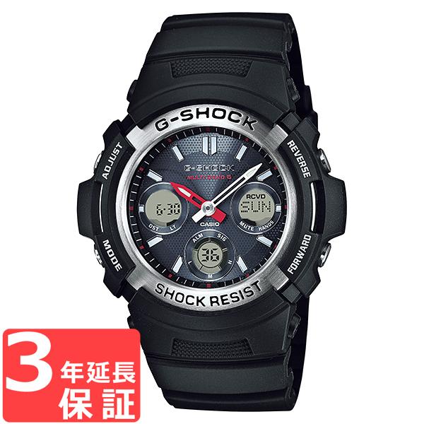 【名入れ対応】 【3年保証】 カシオ 腕時計 CASIO G-SHOCK AWG-M100-1A Gショック ジーショック 電波 ソーラー メンズ 時計 アナデジ AWG-M100-1ADR ブラック 黒 海外モデル [国内 AWG-M100-1AJF と同型] カシオ 腕時計 【あす楽】