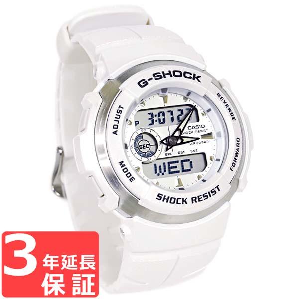 【名入れ対応】 【3年保証】 カシオ CASIO G-SHOCK Gショック 防水 ジーショック 腕時計 メンズ G-SPIKE G-300LV-7AJF ホワイト 白