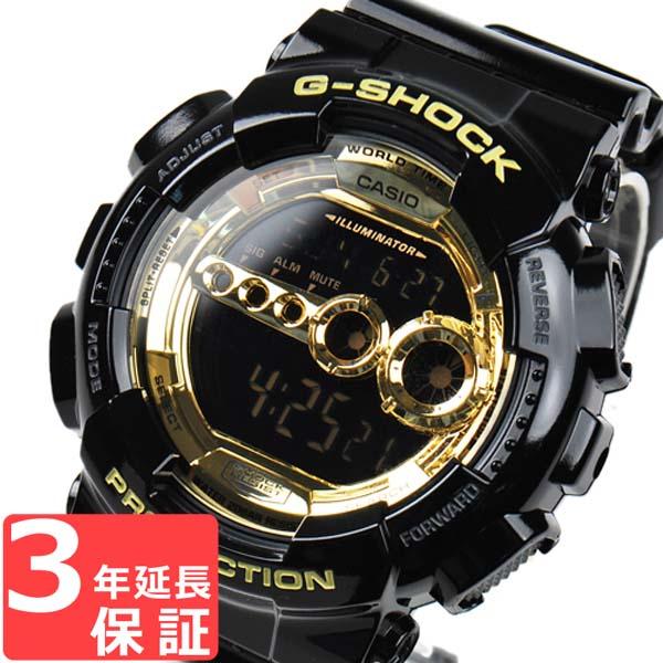 【名入れ対応】 【3年保証】 カシオ Gショック 防水 ジーショック CASIO G-SHOCK GD-100GB-1DR Black×Gold Series 腕時計 メンズ 海外モデル ブラック 黒×ゴールド 【あす楽】
