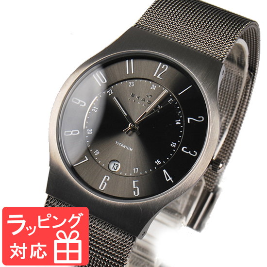新発売 【3年保証】 スカーゲン メンズ レディース ユニセックス 腕時計 SKAGEN 時計 スカーゲン 時計 SKAGEN 腕時計 人気 クォーツ チタン アナログ 233XLTTM グレー スカーゲン レディース, 東加茂郡 d73455fc