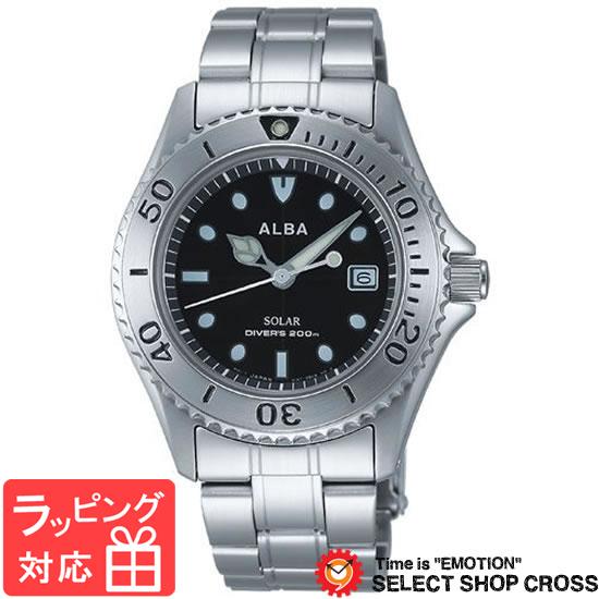 【3年保証】 セイコー SEIKO ALBA SOLAR アルバ ソーラー AEFD529 メンズ 腕時計 ブラック 黒 正規品