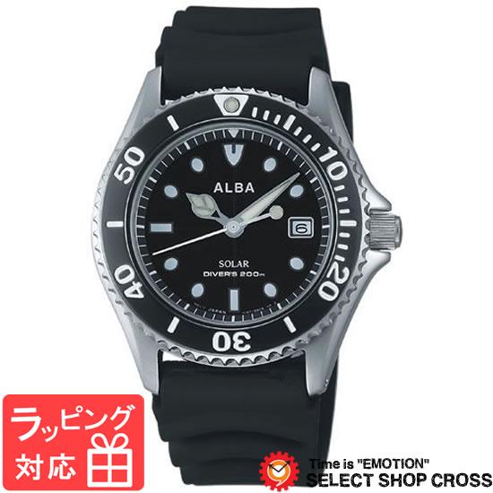 【3年保証】 セイコー SEIKO ALBA SOLAR アルバ ソーラー AEFD530 メンズ 腕時計 ブラック 黒 正規品