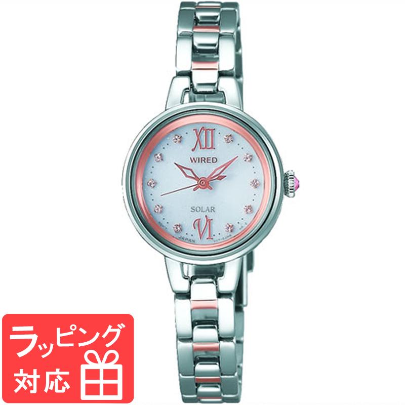 【3年保証】 SEIKO セイコー WIRED ワイアード ソーラー レディース 腕時計 ブランド AGED091 正規品
