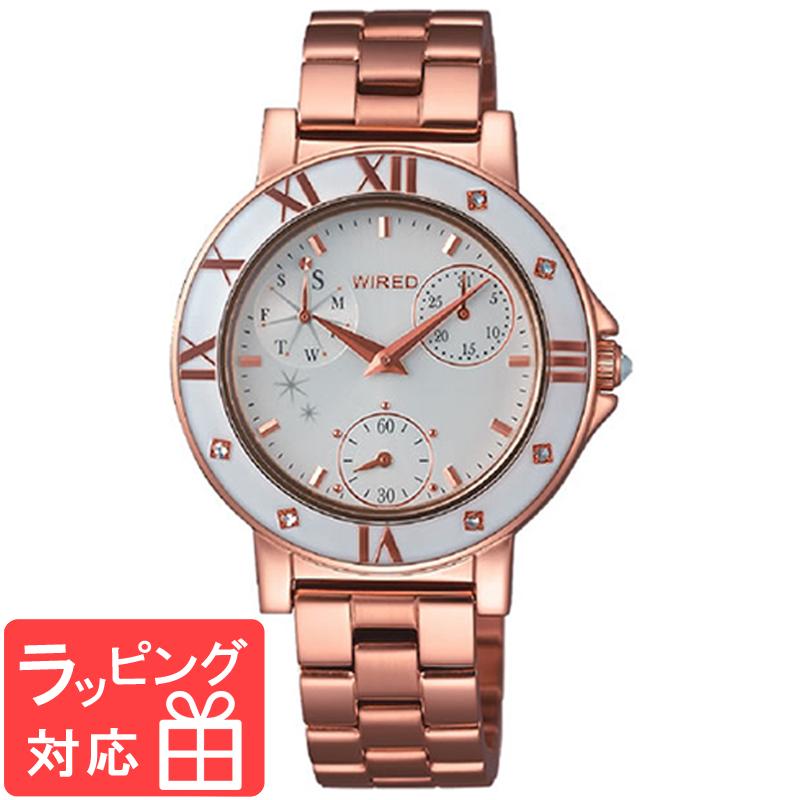 【無料ギフトバッグ付き】 【3年保証】 SEIKO セイコー WIRED f ワイアードエフ クオーツ レディース 腕時計 ブランド AGET401 正規品