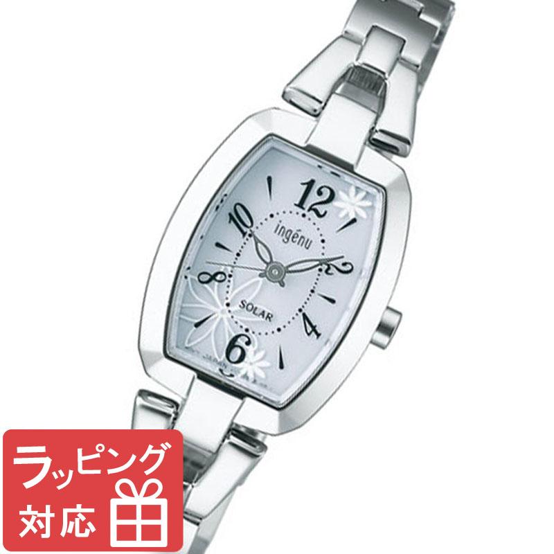 【3年保証】 セイコー SEIKO ALBA ingenu アルバ アンジェーヌ ソーラー レディース 腕時計 ブランド AHJD061 シルバー 正規品