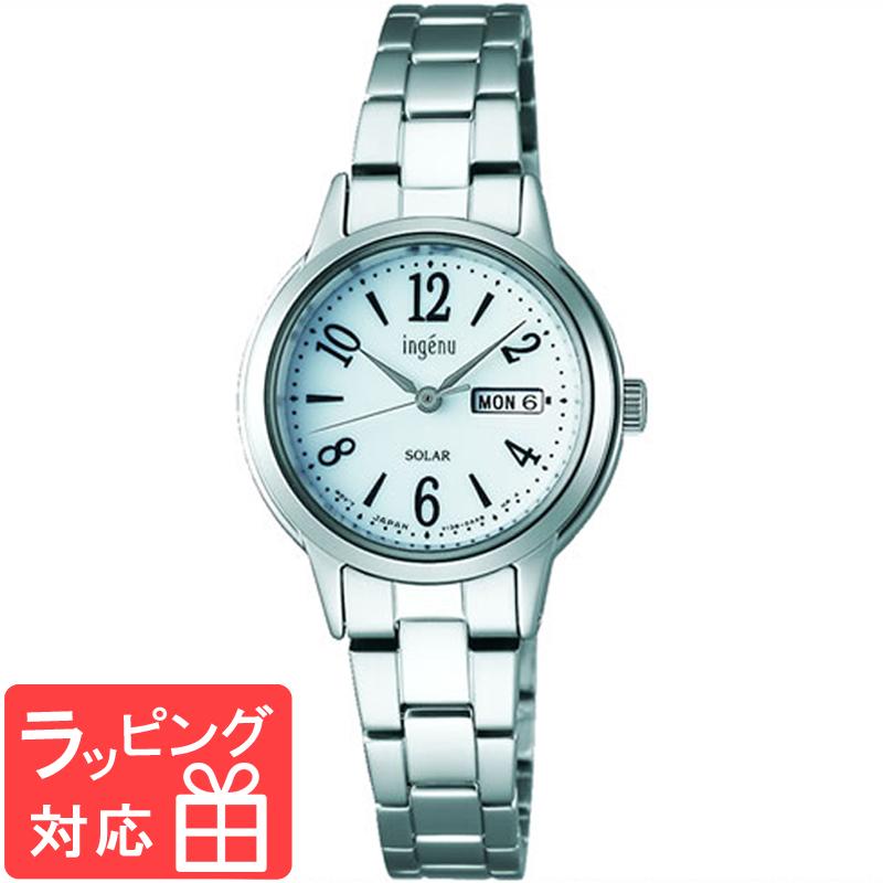 【3年保証】 SEIKO セイコー ALBA アルバ ingenu アンジェーヌ ソーラー レディース 腕時計 ブランド AHJD105 正規品