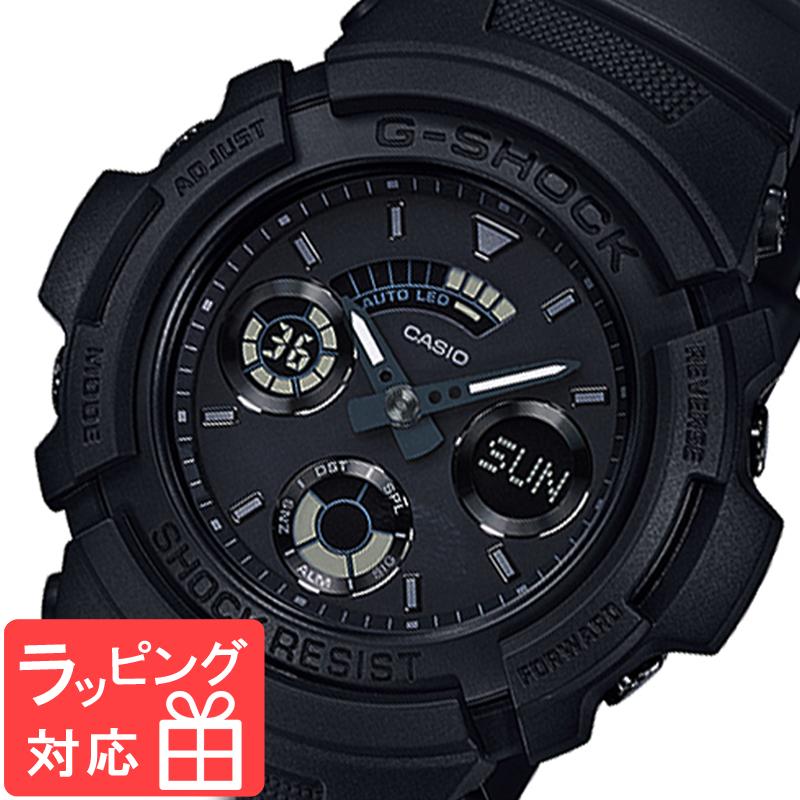 【名入れ対応】 【3年保証】 CASIO カシオ G-SHOCK Gショック 防水 ジーショック ベーシック クオーツ メンズ 腕時計 オールブラック 黒 AW-591BB-1ADR 海外モデル [国内 AW-591BB-1AJF と同型]