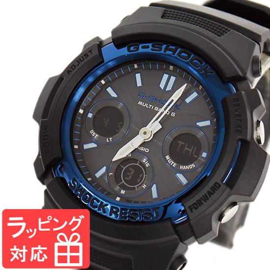 【名入れ・ラッピング対応可】 【3年保証】 カシオ 腕時計 CASIO G-SHOCK ジーショック メンズ AWG-M100A-1A CASIO 電波 ソーラー メンズ 時計 アナデジ AWG-M100A-1ADR ブラック 黒 ブルー 海外モデル [国内 AWG-M100A-1AJF ] カシオ 腕時計 【あす楽】