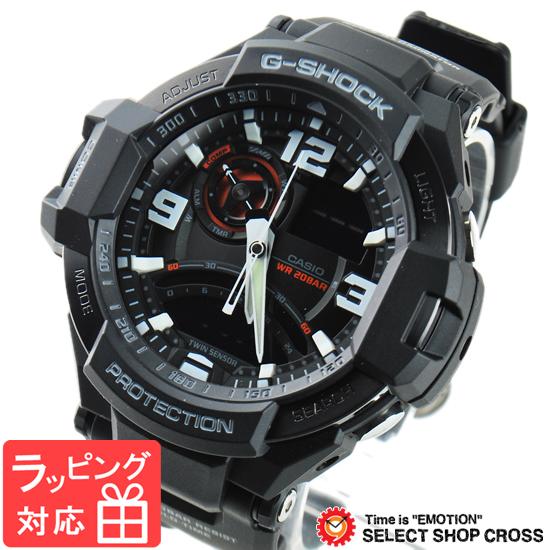 【名入れ対応】 【3年保証】 Gショック 防水 ジーショック G-SHOCK カシオ CASIO メンズ 腕時計 スカイコクピット アナデジ GA-1000-1ADR ブラック 黒 海外モデル [国内 GA-1000-1AJF と同型]