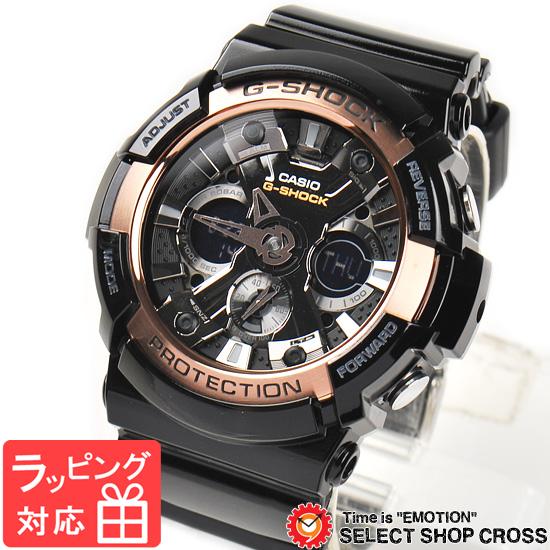 【名入れ対応】 カシオ CASIO G-SHOCK Gショック ジーショック メンズ 腕時計 アナデジ Rose Gold Series GA-200RG-1ADR ブラック 黒 ローズゴールド 海外モデル 【スポーツ リストウォッチ ランキング ブランド 防水 カラフル】
