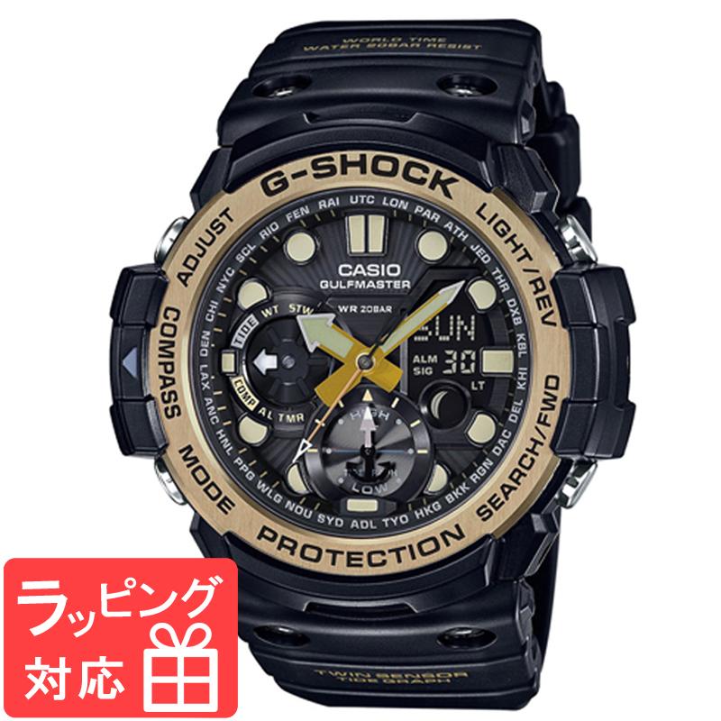 【無料ギフトバッグ付き】 【名入れ対応】 【3年保証】 カシオ CASIO G-SHOCK Gショック 防水 ジーショック メンズ 腕時計 アナデジ Master of G Vintage Black & Gold GN-1000GB-1ADR GN-1000GB-1A 海外モデル 【あす楽】