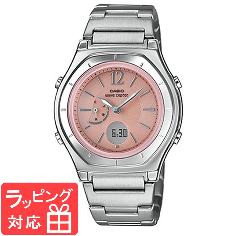 【名入れ・ラッピング対応可】 【3年保証】 カシオ ウェブセプター CASIO wave ceptor レディース 腕時計 ブランド 電波時計 電波ソーラー LWA-M160D-4A1JF アナデジ ピンク/シルバー 国内モデル