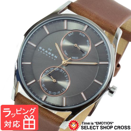 【3年保証】 スカーゲン メンズ レディース ユニセックス 腕時計 SKAGEN 時計 スカーゲン 時計 SKAGEN 腕時計 人気 Holst ホルスト マルチファンクション SKW6086 クオーツ グレー×ブラウン スカーゲン