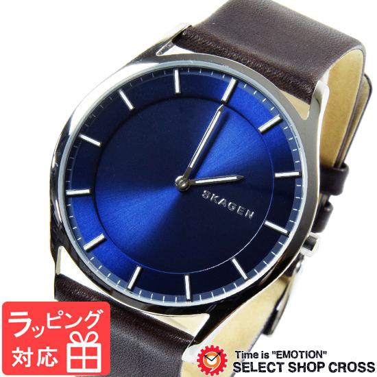 【3年保証】 スカーゲン メンズ レディース ユニセックス 腕時計 SKAGEN 時計 スカーゲン 時計 SKAGEN 腕時計 人気 Holst ホルスト クオーツ SKW6237 ブルー×ダークブラウン スカーゲン レディース