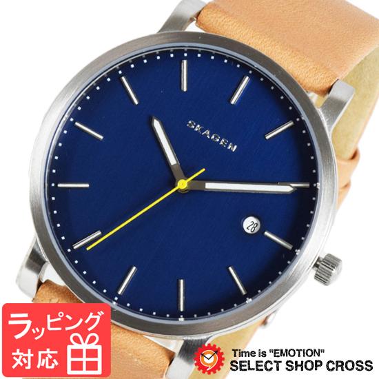 【3年保証】 スカーゲン メンズ レディース ユニセックス 腕時計 SKAGEN 時計 スカーゲン 時計 SKAGEN 腕時計 人気 クオーツ レザー ブルー×ライトブラウン SKW6279 スカーゲン レディース