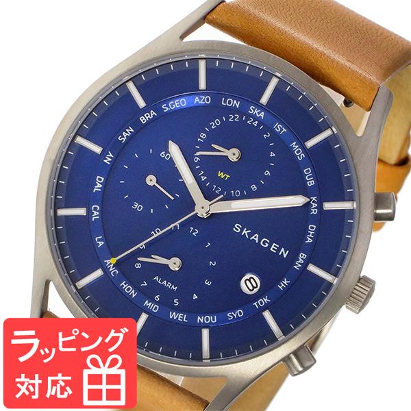 【無料ギフトバッグ付き】 【3年保証】 スカーゲン メンズ レディース ユニセックス 腕時計 SKAGEN 時計 スカーゲン 時計 SKAGEN 腕時計 人気 ホルスト HOLST ワールドタイム クオーツ SKW6285 ブルー スカーゲン レディース