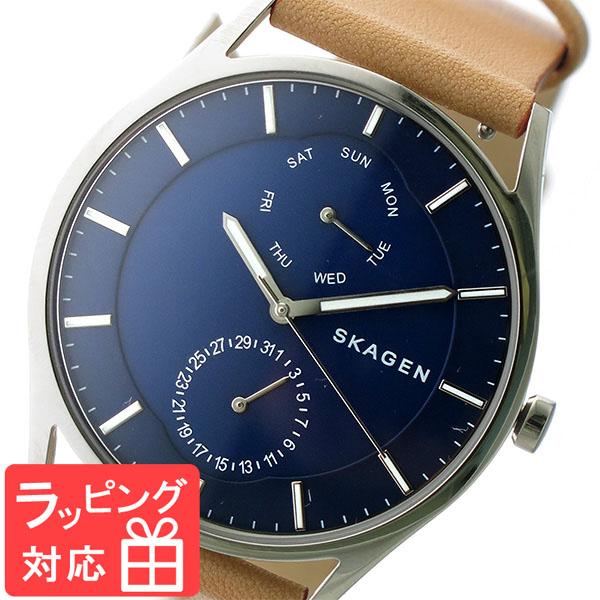 【無料ギフトバッグ付き】 【3年保証】 スカーゲン メンズ レディース ユニセックス 腕時計 SKAGEN 時計 スカーゲン 時計 SKAGEN 腕時計 人気 クオーツ SKW6369 ネイビー/キャメル スカーゲン レディース