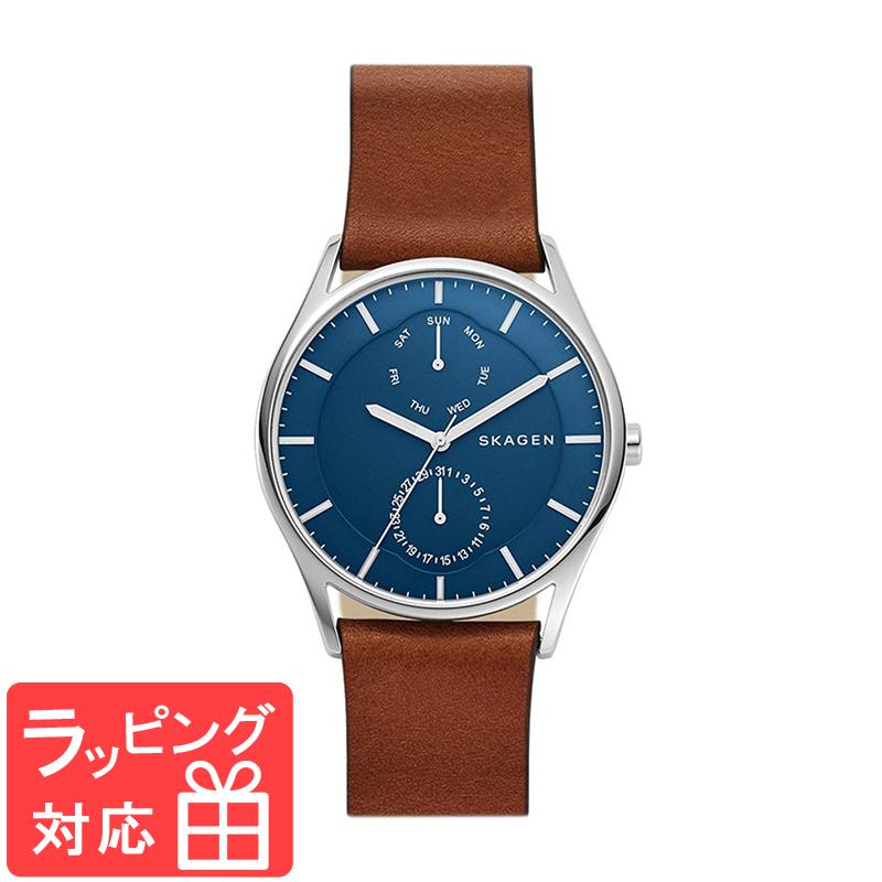 【3年保証】 スカーゲン メンズ レディース ユニセックス 腕時計 SKAGEN 時計 スカーゲン 時計 SKAGEN 腕時計 ホルスト 40mm SKW6449 ブルー×ブラウン スカーゲン レディース 【あす楽】