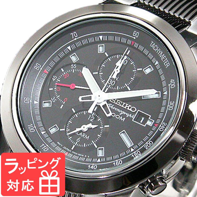 【無料ギフトバッグ付き】 【3年保証】 セイコー SEIKO 時計 クロノグラフ アラーム メンズ 腕時計 おしゃれ SNAB19P1 海外モデル セイコー SEIKO 腕時計