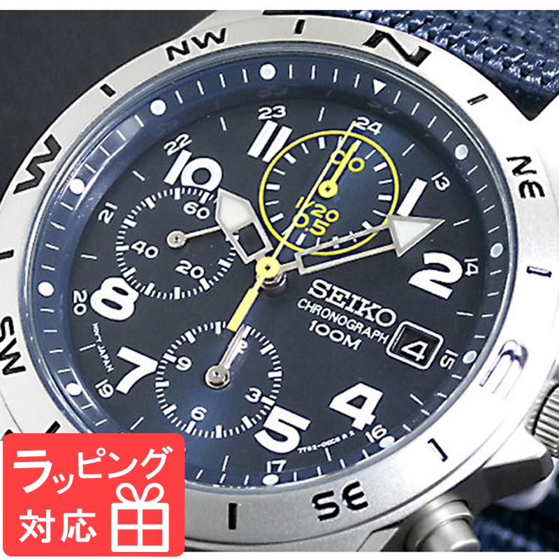 【3年保証】 セイコー SEIKO クロノグラフ メンズ 腕時計 SND379R