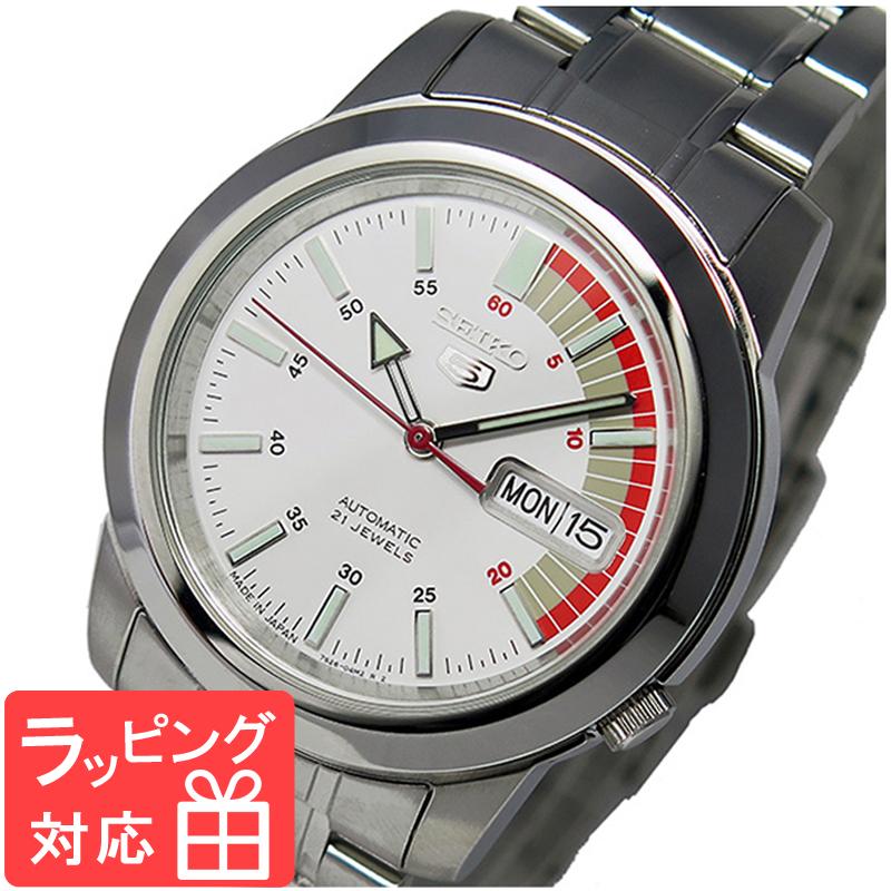 【無料ギフトバッグ付き】 【3年保証】 セイコー SEIKO セイコーファイブ 自動巻き レディース 腕時計 SNKK25J1 ホワイト