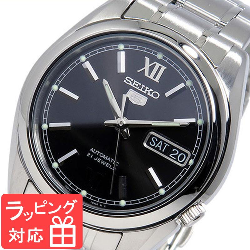 【3年保証】 セイコー SEIKO 時計 セイコーファイブ SEIKO 5 自動巻き メンズ 腕時計 おしゃれ SNKL55K1 ブラック 海外モデル 【3年保証】 セイコー SEIKO 腕時計