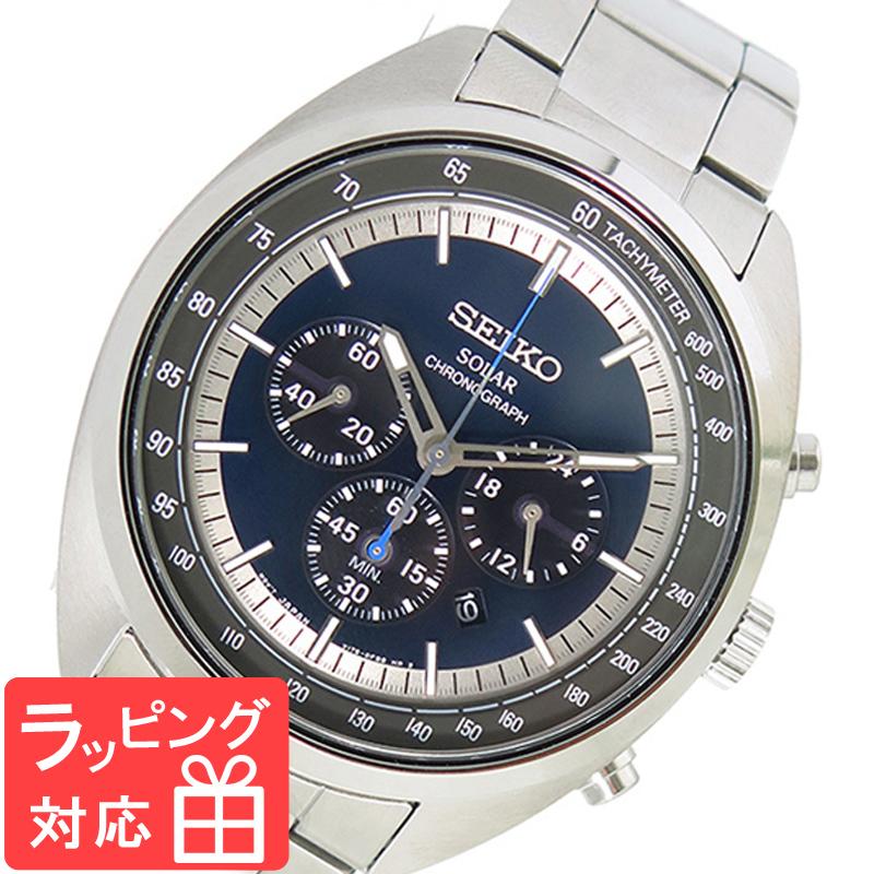 【3年保証】 セイコー SEIKO 時計 ソーラー クオーツ メンズ 腕時計 おしゃれ SSC619P1 ネイビー 海外モデル 【3年保証】 セイコー SEIKO 腕時計