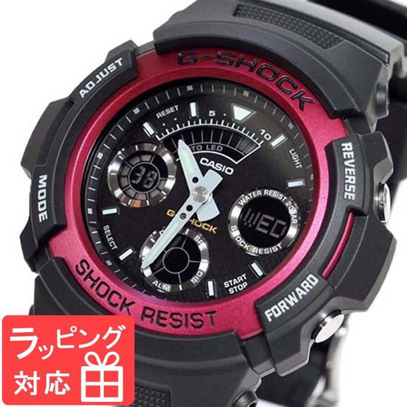 【無料ギフトバッグ付き】 【名入れ対応】 【3年保証】 カシオ CASIO G-SHOCK Gショック 防水 ジーショック 腕時計 メンズ 海外モデル デジアナ AW-591-4ADR レッド 赤 【あす楽】