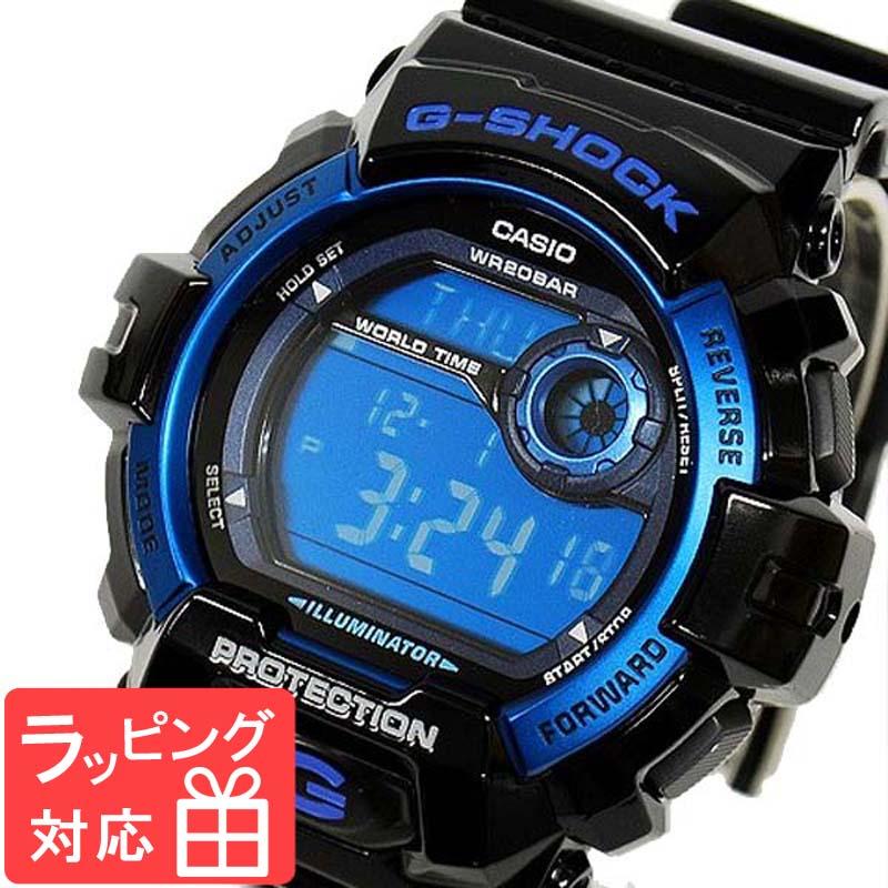 【名入れ対応】 【3年保証】 カシオ CASIO G-SHOCK Gショック 防水 ジーショック メンズ 腕時計 海外モデル デジタル G-8900A-1DR ブラック 黒×ブルー [国内 G-8900A-1JF と同型]