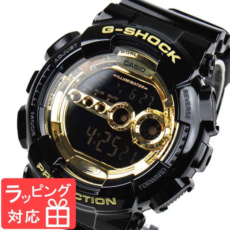【名入れ・ラッピング対応可】 【3年保証】 カシオ Gショック 防水 ジーショック CASIO G-SHOCK GD-100GB-1DR Black×Gold Series 腕時計 メンズ 海外モデル ブラック 黒×ゴールド 【あす楽】
