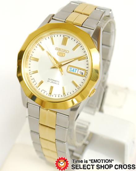 【3年保証】 セイコー SEIKOファイブ ドレス 自動巻き メンズ 腕時計 SNKG84J1 海外モデル ゴールド×ホワイト 白 正規品
