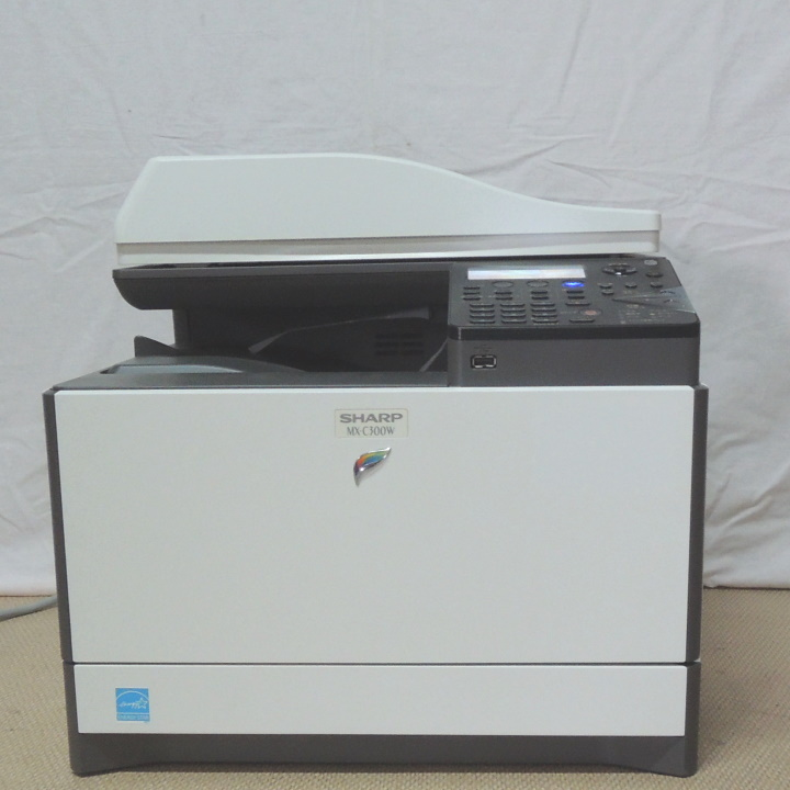 シャープ A4 フルカラー レーザー 複合機 MX-C300W 無線LAN装備 中古