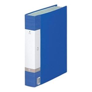 (業務用20セット) LIHITLAB クリアブック/クリアファイル リクエスト 【A4/タテ型】 固定式 80ポケット G3204-8 青