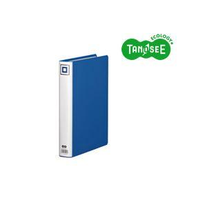 (まとめ)TANOSEE 両開きパイプ式ファイルV A4タテ 30mmとじ 青 30冊