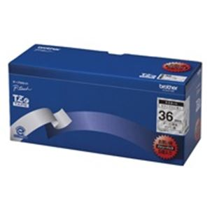 brother ブラザー工業 文字テープ/ラベルプリンター用テープ 【幅:36mm】 5個入り TZe-161V 透明に黒文字