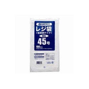 (まとめ)ジョインテックス レジ袋(省資源タイプ)No.45 100枚 B745J【×20セット】