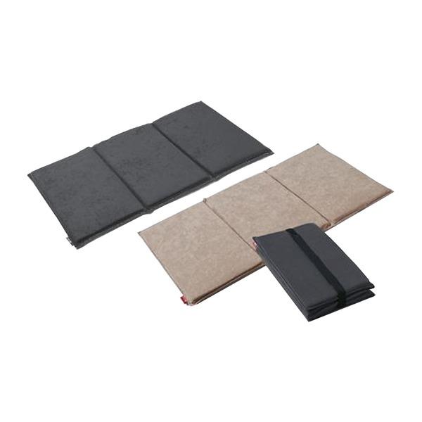 三つ折り ピロークッション/マットレス 【チャコール】 シングル 幅47.5cm 日本製 X30 『ファイテン 星のやすらぎ』